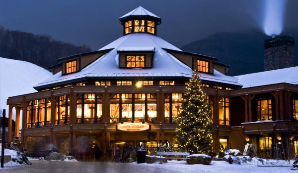 Hotel w górach zimą